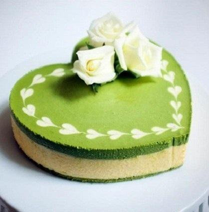 Bột trà xanh là nguyên liệu làm bánh