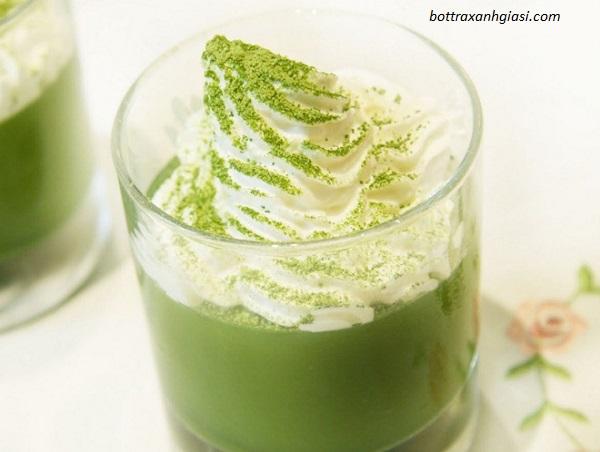Bột trà xanh là nguyên liệu pha chế đồ uống