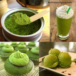 Bột trà xanh là nguyên liệu mang lại nhiều lợi ích