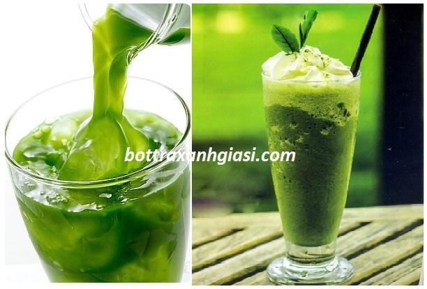 Cách uống bột trà xanh nguyên chất