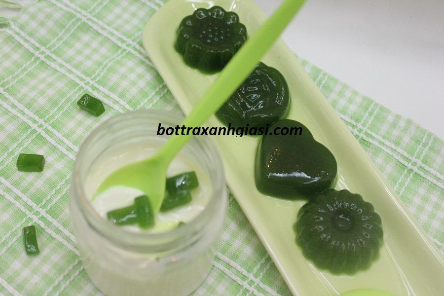 Món rau câu sữa trà xanh