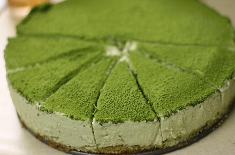 Bột trà xanh làm cho món ăn thêm phần phong phú