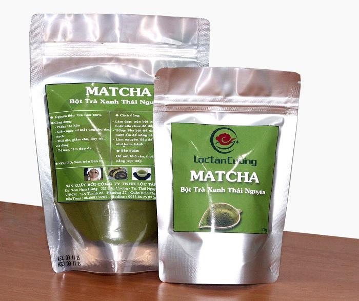 Sản phẩm bột matcha trà xanh của Lộc Tân Cương